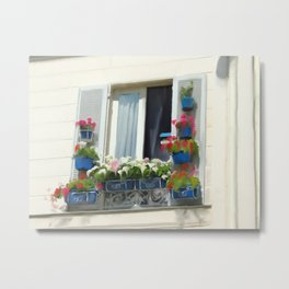 French Window on a Summer Day  Metal Print