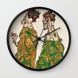 Egon Schiele - Devotion Wall Clock
