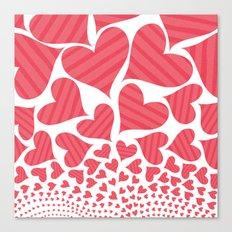 Bursting Hearts Canvas Print