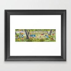 Rain Garden Framed Art Print