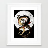 dragon ball Framed Art Prints featuring Black Dragon by TxzDesign