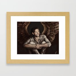 Sam Winchester. Angel Framed Art Print