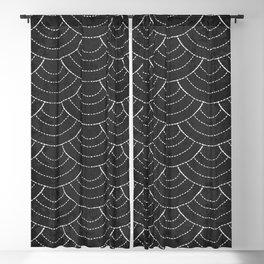 Black sashiko pattern Blackout Curtain