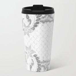 Bali Batik white grey Travel Mug