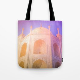 Morning Light Reflexion at Taj Mahal Tote Bag