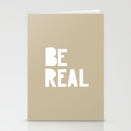 Be Real Stationery Cards