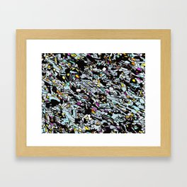 Magnified Gabbro Stone  Framed Art Print
