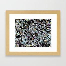Magnified Gabbro Stone  Framed Art Print