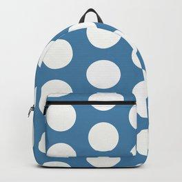 Large Polka Dots on Blue Backpack