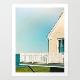 Cottage by the sea Art Print