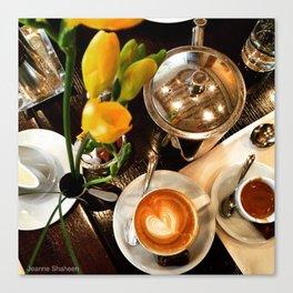 Coffee Date in Dubai Canvas Print