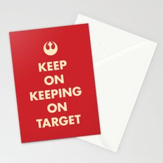 Keep On Keeping On Target (Red) Stationery Cards
