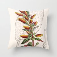 botanical Throw Pillows featuring Botanical by Connie Goldman