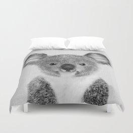 Baby Koala - Black & White Duvet Cover