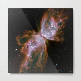 Butterfly Nebula Deep Space Telescopic Photograph Metal Print