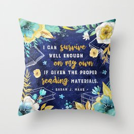 I can survive Throw Pillow