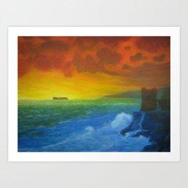 Orange Storm Art Print