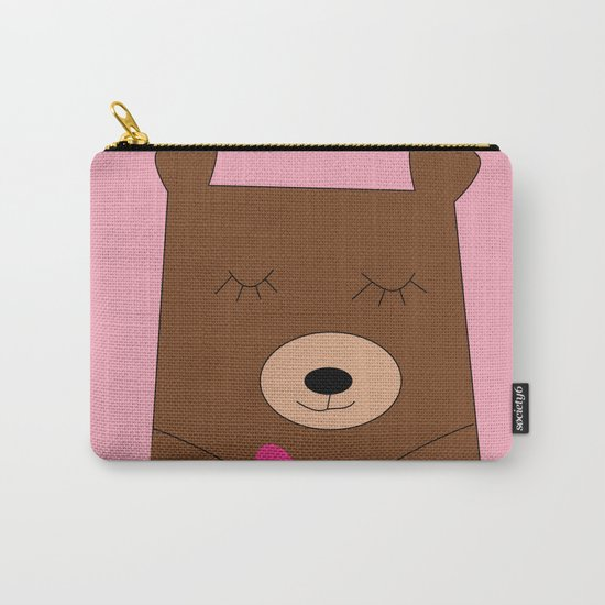 Bear in love pink Carry-All Pouch