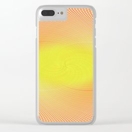 Candy Stripes Clear iPhone Case