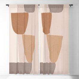 abstract minimal 25 Blackout Curtain