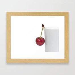 Red Cherry Berry Framed Art Print