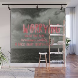 Motivation Poster Black and White Moody Skies with Bright Pink Typography Wall Mural
