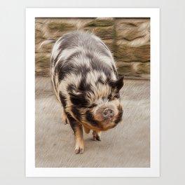 Fat pig Art Print