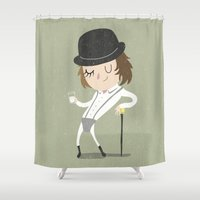 kubrick Shower Curtains featuring Alex by Rod Perich
