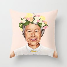 Hipstory - Queen Elizabeth Throw Pillow