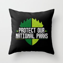 Protect Our National Parks Throw Pillow