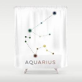 AQUARIUS STAR CONSTELLATION ZODIAC SIGN Shower Curtain