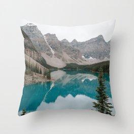 Moraine Lake, Banff National Park Throw Pillow