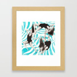 Three wise monkeys Framed Art Print