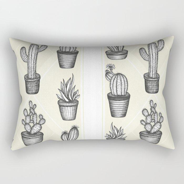 Prickly Friends Rectangular Pillow