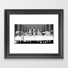 please pass the coleslaw Framed Art Print