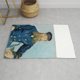 "Vincent Van Gogh ""Portrait of the Postman Joseph Roulin"" Rug"