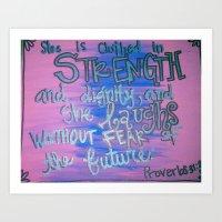 True Strength Art Print