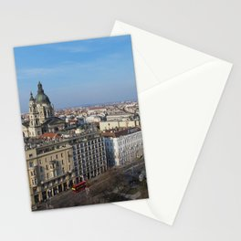 Panoramic view of Budapest and St. Stephen Basilica in Hungary Stationery Cards