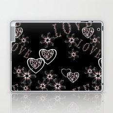 Openwork pattern with hearts.Love , Valentine's day Laptop & iPad Skin