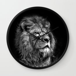 Proud Young Lion Wall Clock