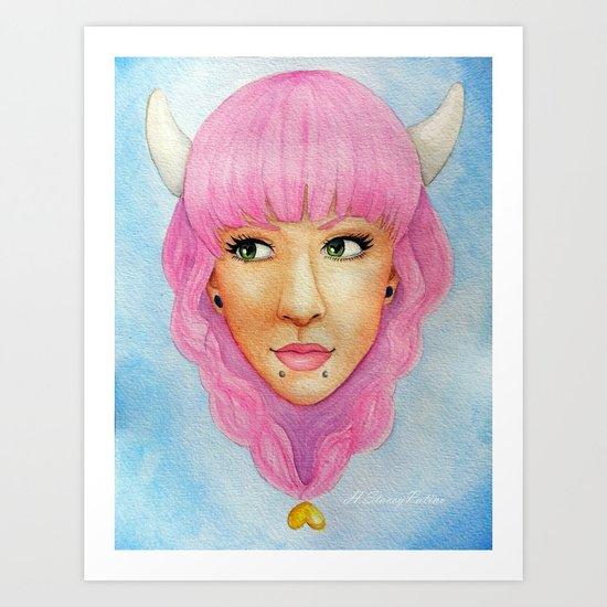 Bubblegum Queen Art Print