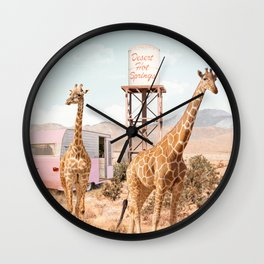 Desert Hot Springs Wall Clock