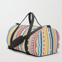 Multicolored lines and dots Duffle Bag