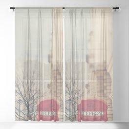 on a city street ...  Sheer Curtain