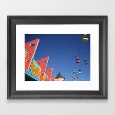 Color--Santa Cruz Board Walk Framed Art Print
