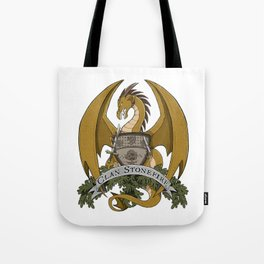 Clan Stonefire Crest - Gold Dragon Tote Bag