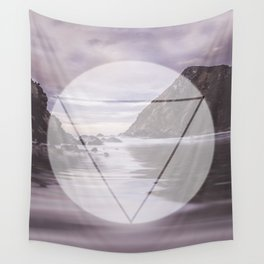 Calm Waters sacred geometry circle triangle Wall Tapestry
