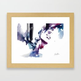 But we're just two strangers, drowning each other Framed Art Print