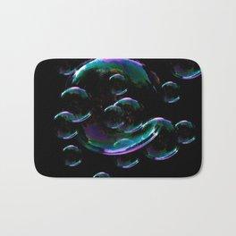 IRIDESCENT SOAP BUBBLES  BLACK COLOR Bath Mat