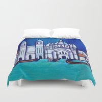 venice Duvet Covers featuring Venice by Theresa Giolzetti